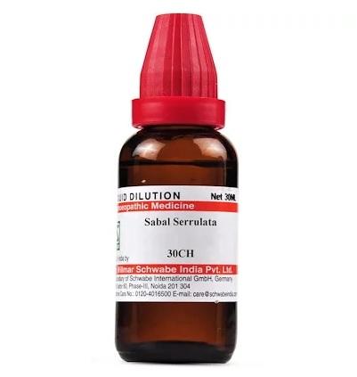 Schwabe Sabal Serrulata Homeopathy Dilution 6C, 30C, 200C, 1M, 10M