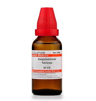 Schwabe Sanguinaria Nitricum Homeopathy Dilution 6C, 30C, 200C, 1M, 10M