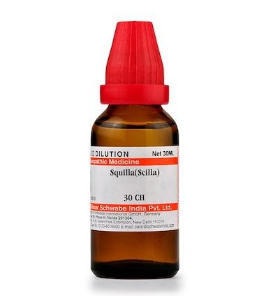Schwabe Squilla (Scilla) Homeopathy Dilution 6C, 30C, 200C, 1M, 10M