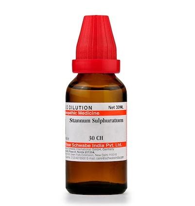 Schwabe Stannum Sulphuratum Homeopathy Dilution 6C, 30C, 200C, 1M, 10M