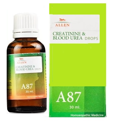 Allen A87 Homeopathy Creatinine and Blood Urea Drops - Homeopathy