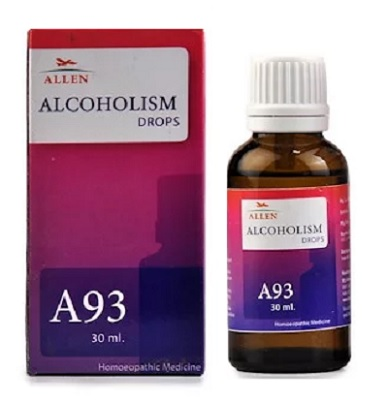 Allen A93 Homeopathy Alcoholism Drop, Lowers Urge of Alcohol Intake