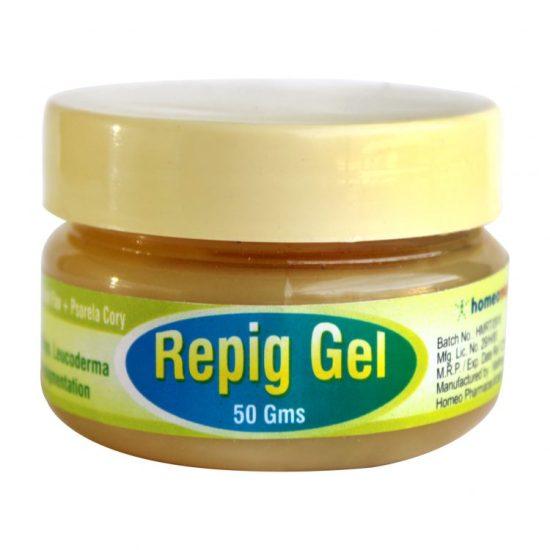 Repig Gel with Arsenic Sulph Flav, Psoralea Cory for Vitiligo, Leucoderma