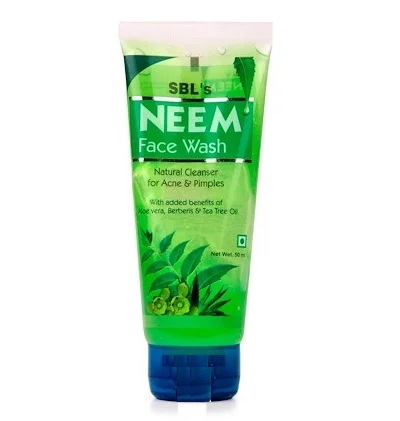 SBL Neem Face Wash with Neem, Aloevera, Daru haldi, Tea tree Oil for Acne, Pimples