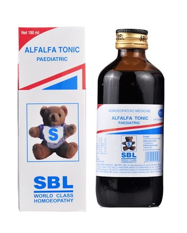 SBL Alfalfa Tonic Paediatric with Alfalfa, Avena sativa and Ginseng for anxiety, anorexia, nervousness, delayed growth, weakness