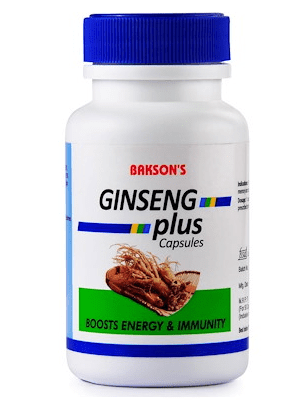 Bakson Ginseng Plus Capsules - Boosts energy & immunity