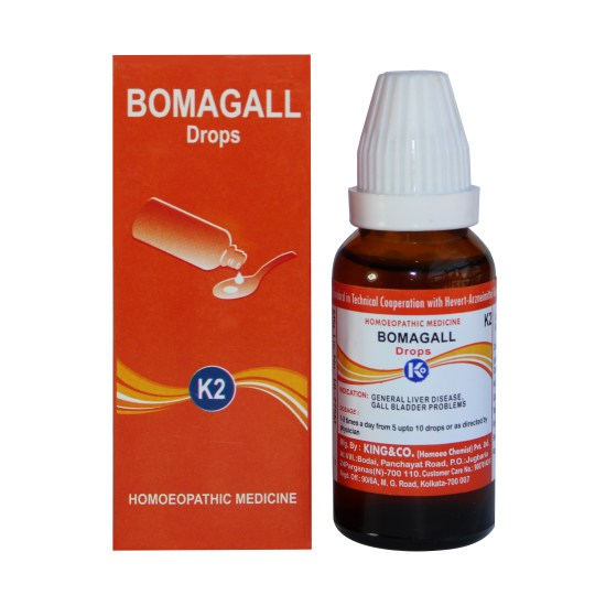 King & Co Bomagall Drops K2 for Liver disease, constipation, gall bladder stone medicines gallstone