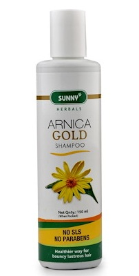Bakson Sunny Arnica Gold Shampoo for bouncy, lustrous hair, No parabens