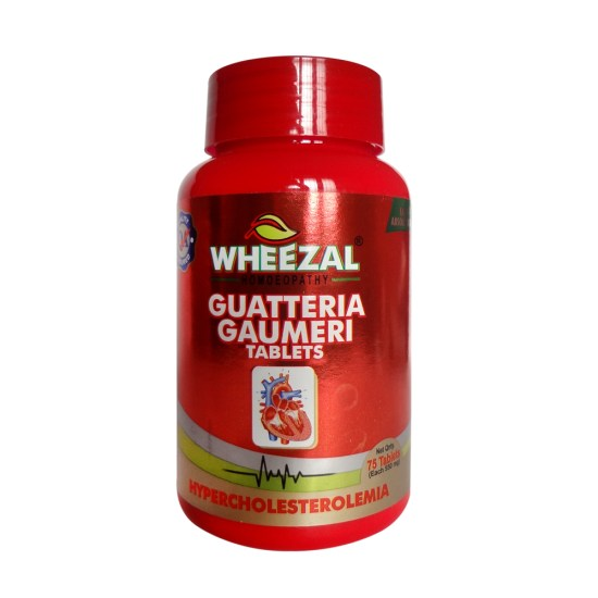 Wheezal Guatteria Gaumeri Tablets Homeopathy for Hypercholestrolemia