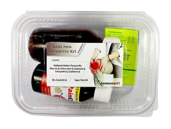 Homeopathy Knee pain kit with Siddhanth Mother tincture mix, Bio-com BC19, Super pain oil