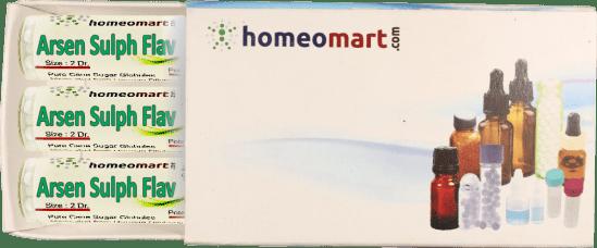 Arsenicum Sulphur Flavum homeopathy pellets