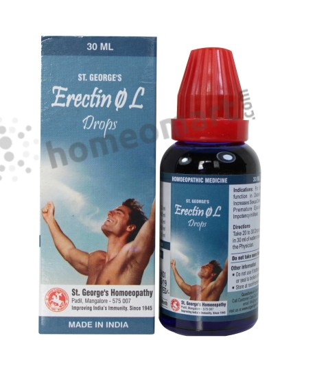 Erectin Homeopathy for sexual weakness, impotence