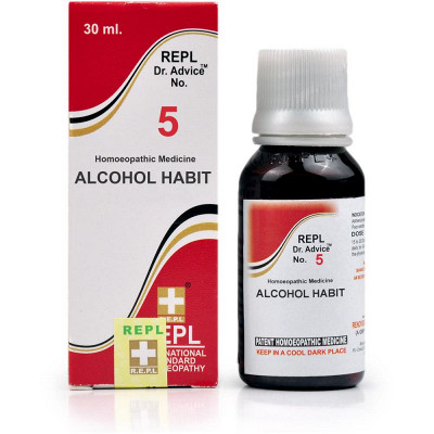 Homeopathy REPL 5 for alcohol Habit
