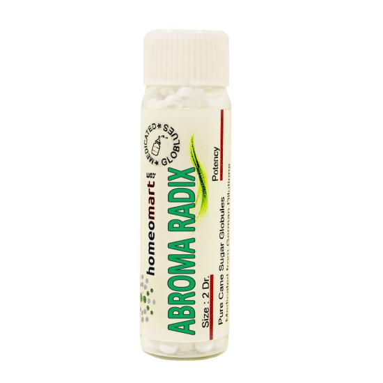 Abroma radix Homeopathy 2 Dram Pellets 6C, 30C, 200C, 1M, 10M