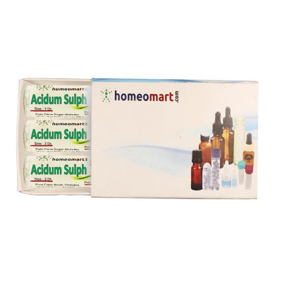 Acidum Sulphuricum Homeopathy 2 Dram Pellets 6C, 30C, 200C, 1M, 10M