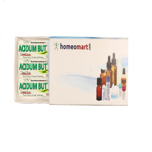 Acidum But Homeopathy 2 Dram Pellets 6C, 30C, 200C, 1M, 10M