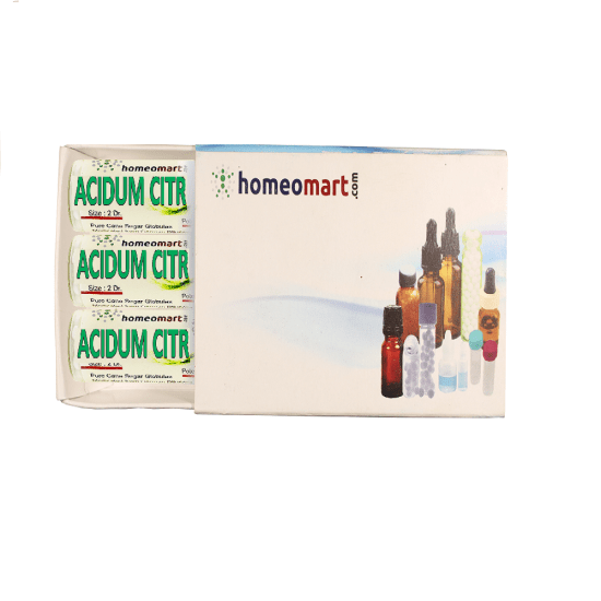 Acidum Citricum Homeopathy 2 Dram Pellets 6C, 30C, 200C, 1M, 10M