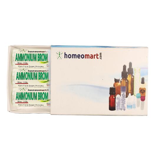AmmoniaBromide Homeopathy 2 Dram Pellets 6C, 30C, 200C, 1M, 10M