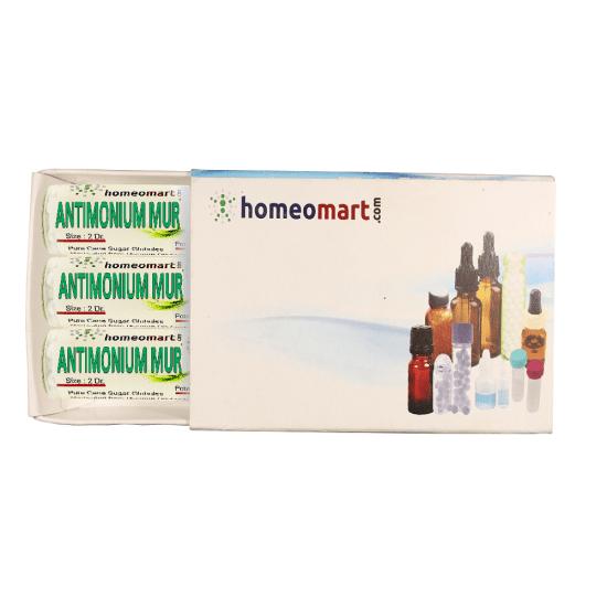 Antimonium Muriaticum Homeopathy 2 Dram Pellets 6C, 30C, 200C, 1M, 10M