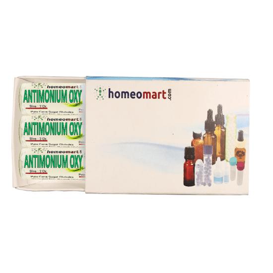 Antimonium Oxydatum Homeopathy 2 Dram Pellets 6C, 30C, 200C, 1M, 10M