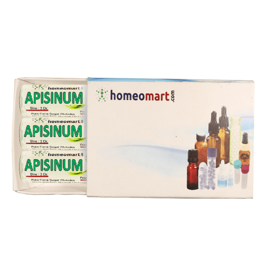 Apisinum Homeopathy 2 Dram Pellets 6C, 30C, 200C, 1M, 10M