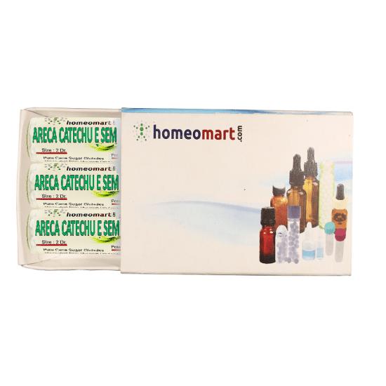 Areca Catechu Homeopathy 2 Dram Pellets 6C, 30C, 200C, 1M, 10M