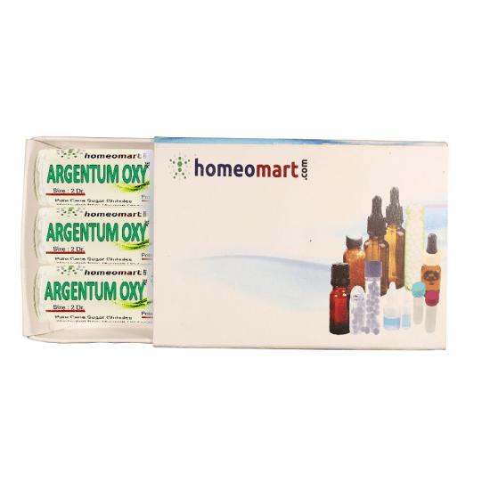Argentum Oxydatum Homeopathy 2 Dram Pellets 6C, 30C, 200C, 1M, 10M
