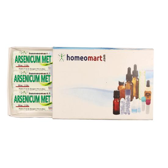 Arsenicum Metallicum Homeopathy 2 Dram Pellets 6C, 30C, 200C, 1M, 10M