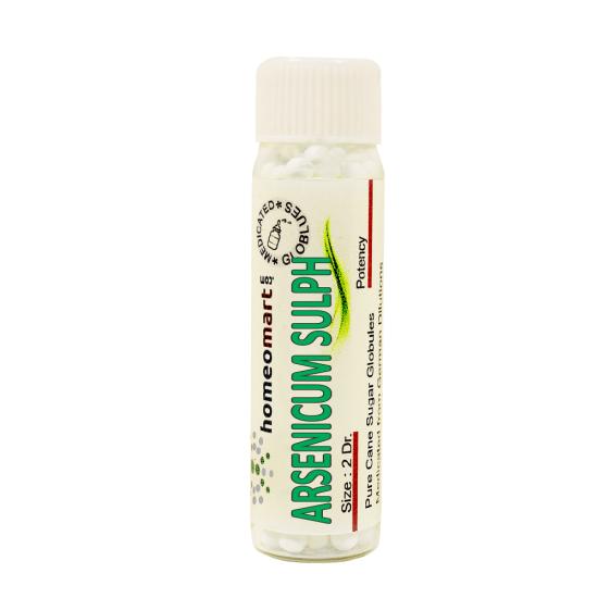 Arsenic Sulphuratum Rubrum Homeopathy 2 Dram Pellets 6C, 30C, 200C, 1M, 10M