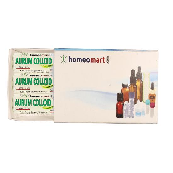 Aurum Colloidale Homeopathy 2 Dram Pellets 6C, 30C, 200C, 1M, 10M
