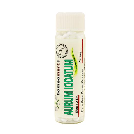 Aurum Iodatum Homeopathy 2 Dram Pellets 6C, 30C, 200C, 1M, 10M