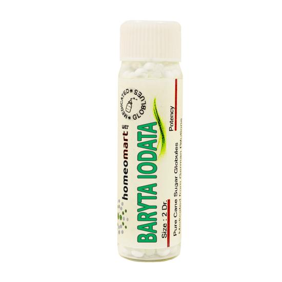 Baryta Iodatum Homeopathy 2 Dram Pellets 6C, 30C, 200C, 1M, 10M