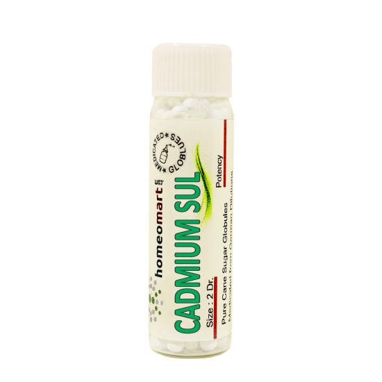 Cadmium Sulphuricum Homeopathy 2 Dram Pellets 6C, 30C, 200C, 1M, 10M