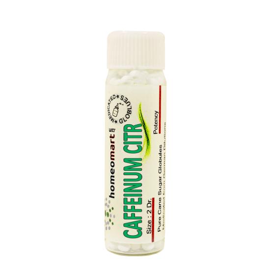 Caffeinum Citricum Homeopathy 2 Dram Pellets 6C, 30C, 200C, 1M, 10M