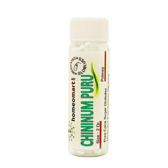 Chininum Purum Homeopathy 2 Dram Pellets 6C, 30C, 200C, 1M, 10M