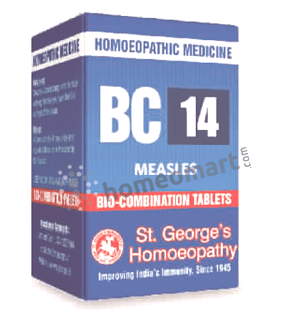 St. George's Biocombination 14 (BC14) tablets for measles