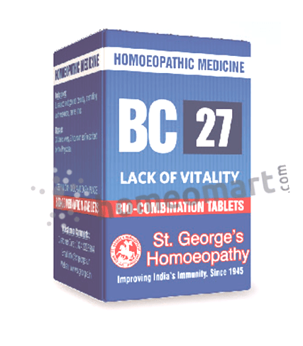 St. George's Biocombination 27 (BC27) tablets for lack of vitality
