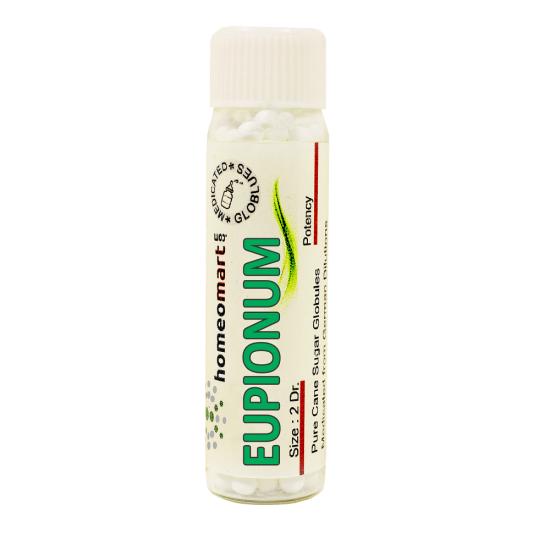 Eupionum Homeopathy 2 Dram Pellets 6C, 30C, 200C, 1M, 10M