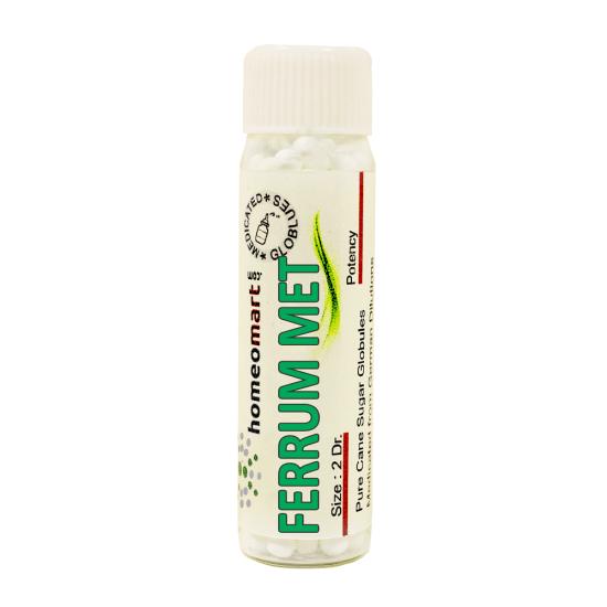 Ferrum Metallicum Homeopathy 2 Dram Pellets 6C, 30C, 200C, 1M, 10M