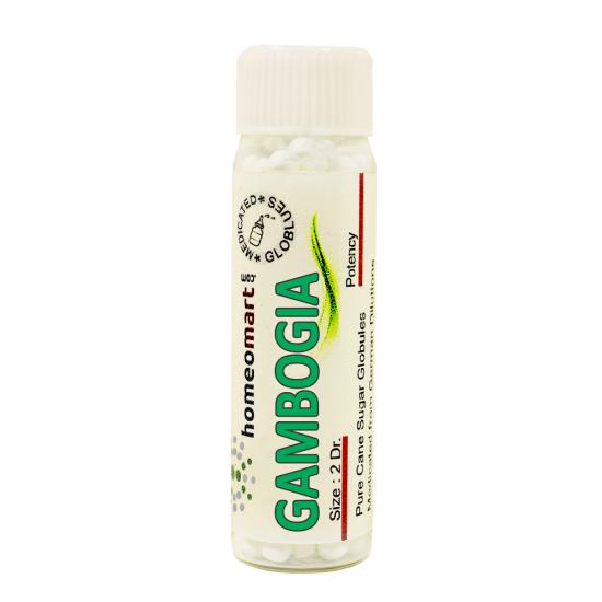 Gambogia Homeopathy 2 Dram Pellets 6C, 30C, 200C, 1M, 10M