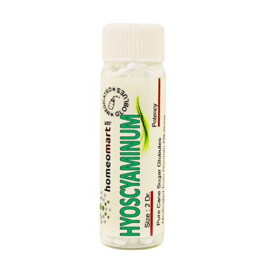 Hyoscyaminum Homeopathy 2 Dram Pellets 6C, 30C, 200C, 1M, 10M