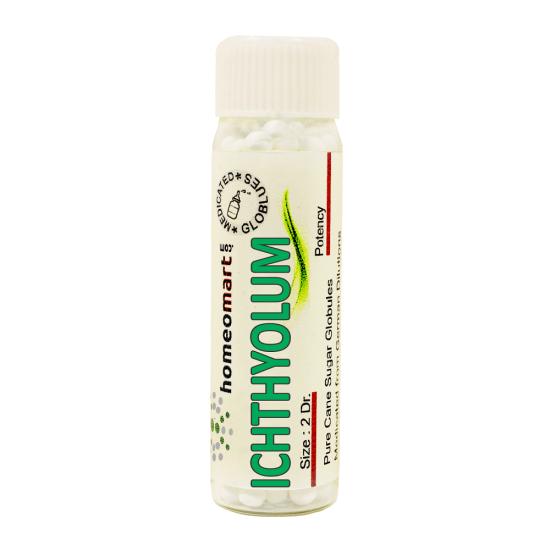 Ichthyolum Homeopathy 2 Dram Pellets 6C, 30C, 200C, 1M, 10M