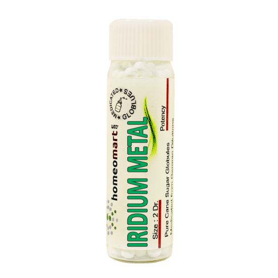 Iridium Metallicum Homeopathy 2 Dram Pellets 6C, 30C, 200C, 1M, 10M