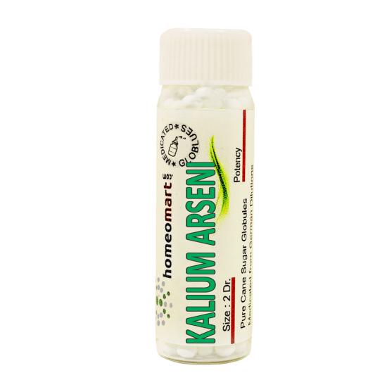 Kalium Arsenicosum Homeopathy 2 Dram Pellets 6C, 30C, 200C, 1M, 10M