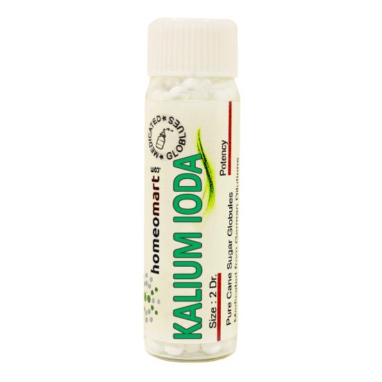 Kalium Iodatum Homeopathy 2 Dram Pellets 6C, 30C, 200C, 1M, 10M
