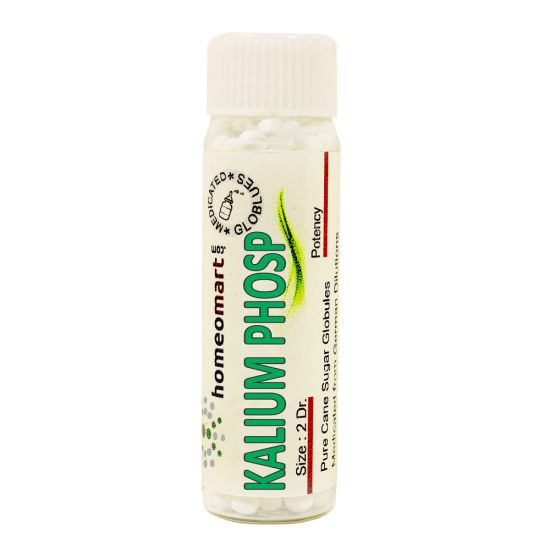 Kalium Phosphoricum Homeopathy 2 Dram Pellets 6C, 30C, 200C, 1M, 10M