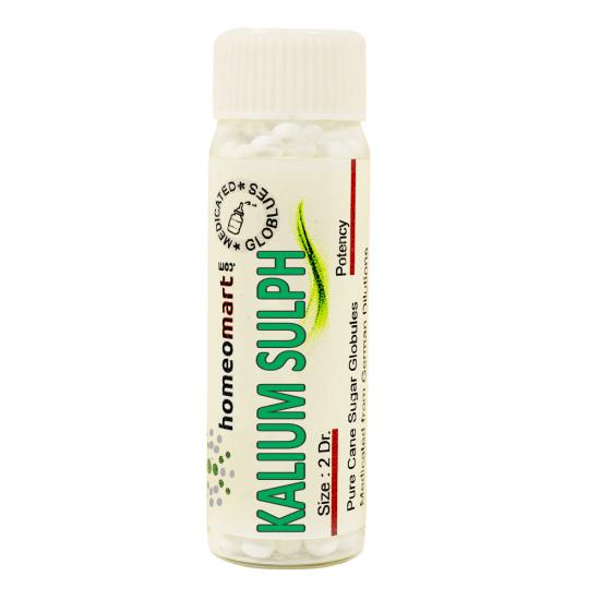 Kalium Sulphuricum Homeopathy 2 Dram Pellets 6C, 30C, 200C, 1M, 10M