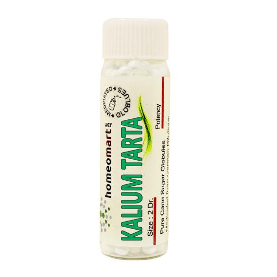 Kalium Tartaricum Homeopathy 2 Dram Pellets 6C, 30C, 200C, 1M, 10M
