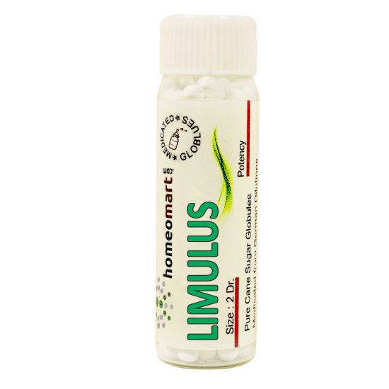 Limulus Homeopathy 2 Dram Pellets 6C, 30C, 200C, 1M, 10M