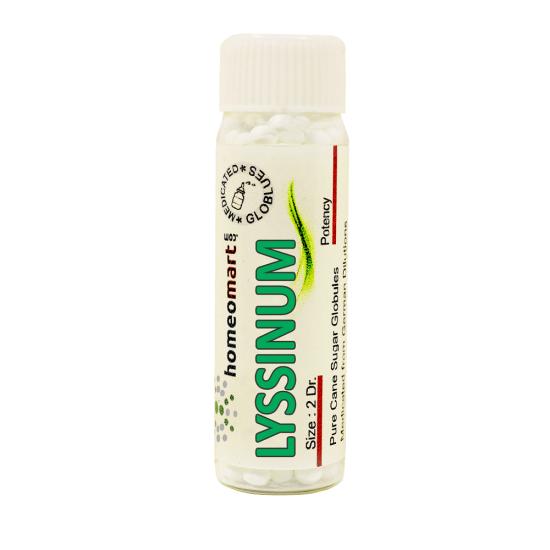 Lyssinum Homeopathy 2 Dram Pellets 6C, 30C, 200C, 1M, 10M